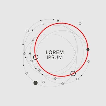Patroon cirkel abstracte achtergrond instellen