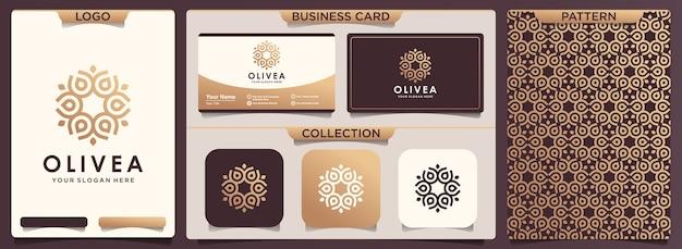 Patroon en visitekaartje ontwerp