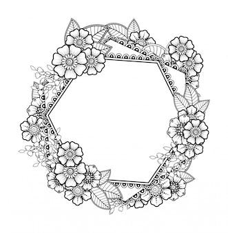 Patroon in de vorm van mandala met bloem