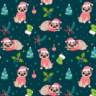 Patroon kerstmis grappig