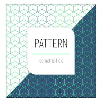 Patroon luxe isometrisch veld