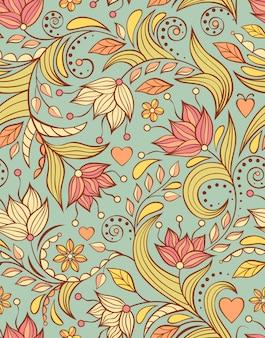 Patroon met abstracte bloemen