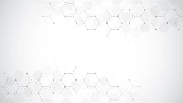 Patroon met abstracte zeshoeken