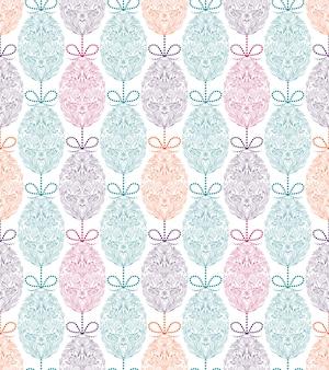Patroon met bloemenpaaseieren