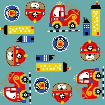 Patroon met brandweerman