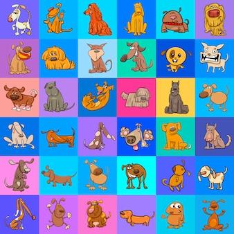 Patroon met cartoon honden ontwerp