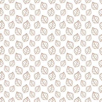 Patroon met eenvoudige bladeren