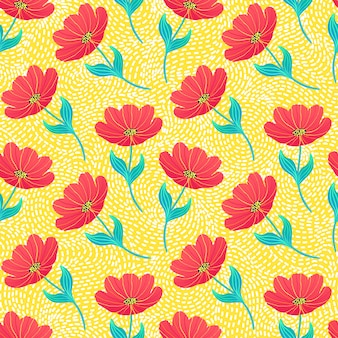 Patroon met heldere tulpen
