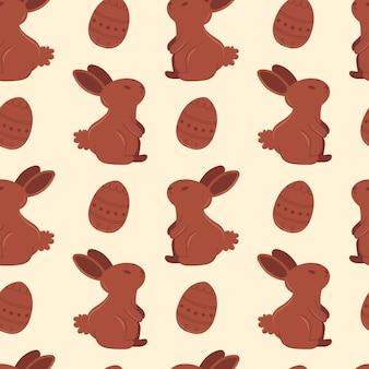 Patroon met konijnen
