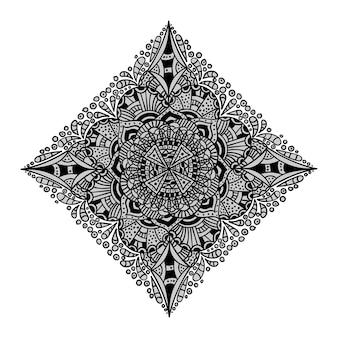 Patroon met mandala-decoratie. voor stof, textiel, bandana, tapijtprint