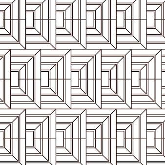 Patroon met platte abstracte lijnen