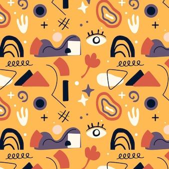 Patroon met platte ontwerp abstracte vormen