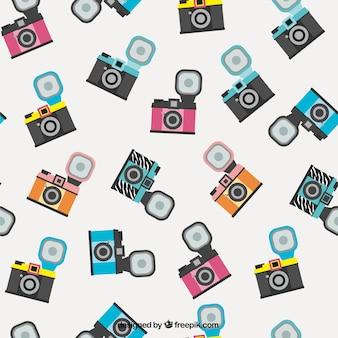 Patroon met retro-camera's