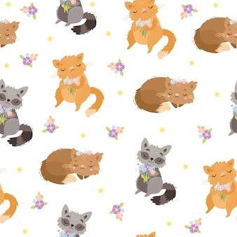 Patroon met schattige dieren