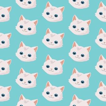 Patroon met schattige katten.
