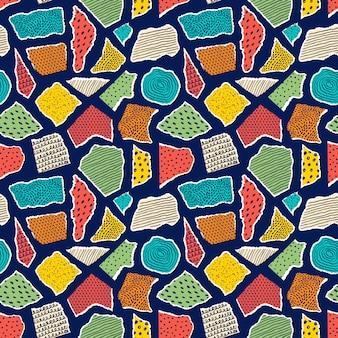 Patroon met stukjes papier