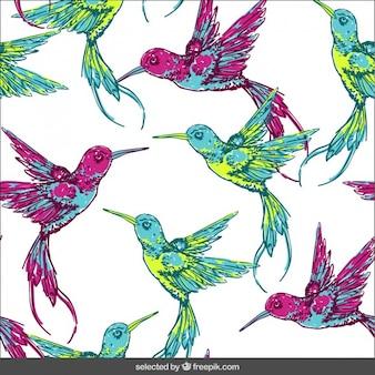 Patroon met tropische vogels