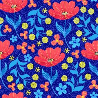 Patroon met tulpen