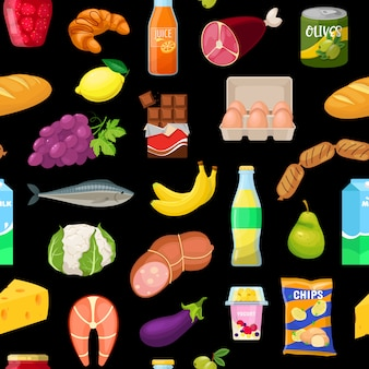 Patroon met voedsel