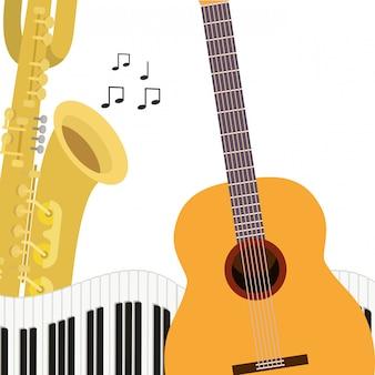 Patroon muziekinstrumenten