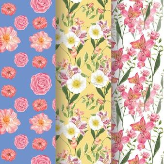 Patroon naadloos met lente heldere concept aquarel illustratie