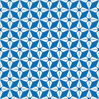 Patroon op blauwe achtergrond