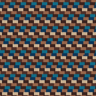 Patroon op de wol gebreide structuur