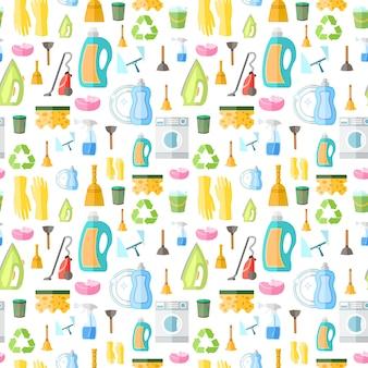 Patroon over het reinigen