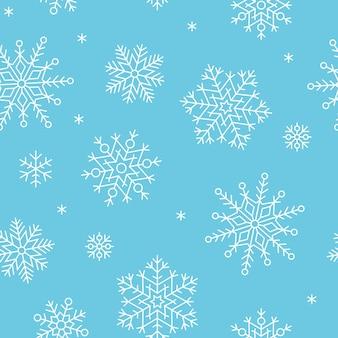 Patroon sneeuwvlok vector naadloze winter sneeuw vakantie kerst achtergrond nordic vallen t