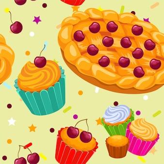 Patroon taarten en muffins