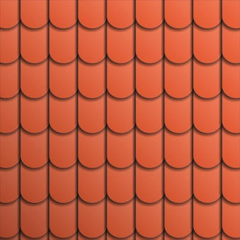 Patroon terracotta dakpan