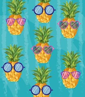 Patroon van de zomer het leuke ananas