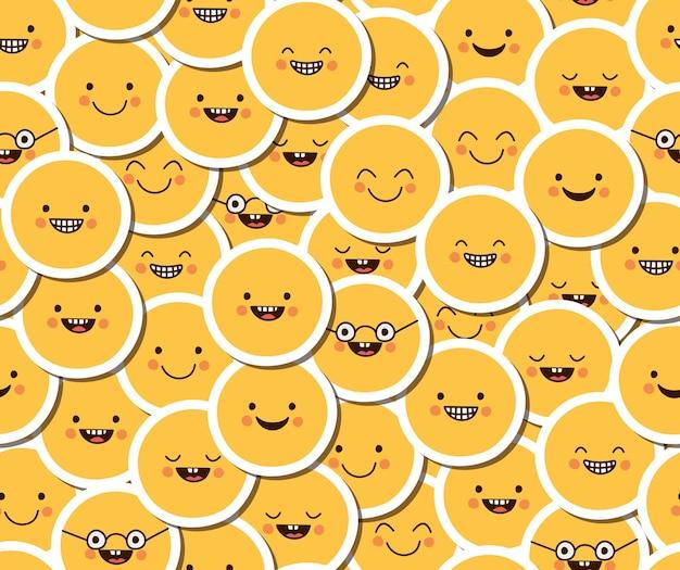 Patroon van emoji's