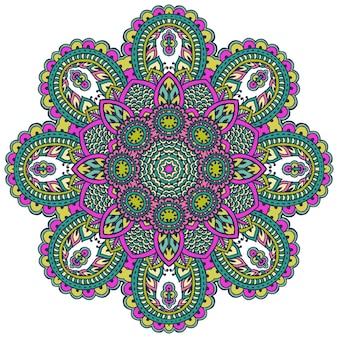 Patroon van florale elementen op basis van traditionele aziatische ornamenten. paisley mehndi
