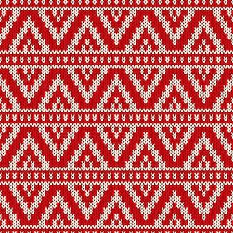 Patroon van gebreide trui met imitatie van wol gebreide structuur