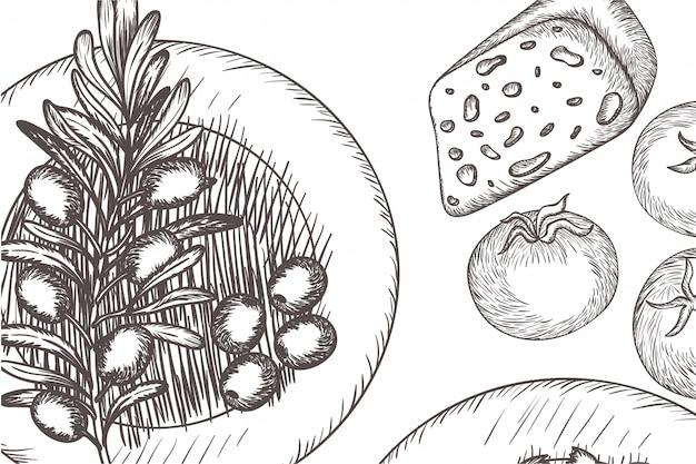 Patroon van heerlijk italiaans eten