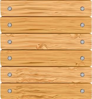 Patroon van houten planken met schroeven vectorillustratie