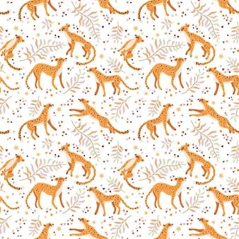 Patroon van jachtluipaarden en luipaarden