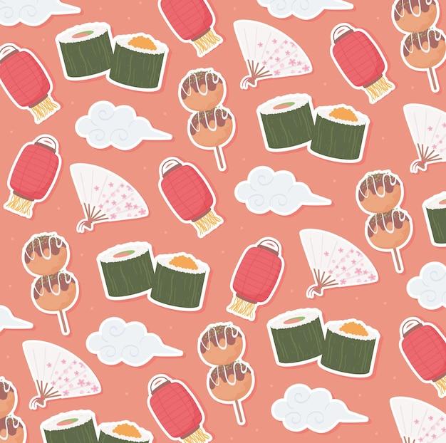 Patroon van japans eten