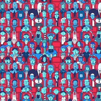 Patroon van mensen in een bioscoop