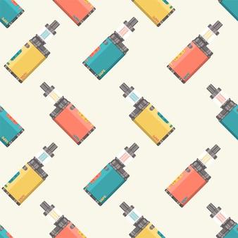Patroon van platte elektronische sigaretten