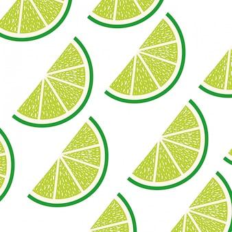 Patroon van schijfje citroen