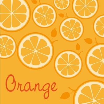 Patroon van silhouetten van sinaasappelen geïsoleerd