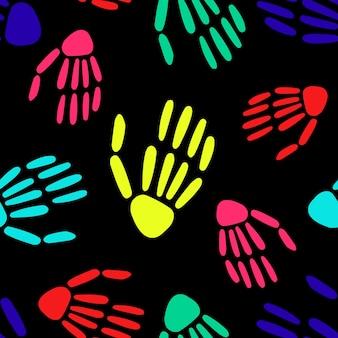 Patroon van skelet handen halloween patroon
