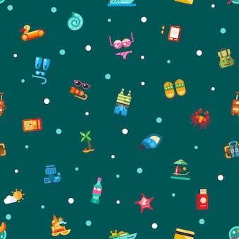 Patroon van vector moderne zee reizen vakantie pictogrammen en infographics elementen