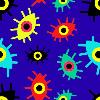 Patroon van veelkleurige abstracte ogen vector