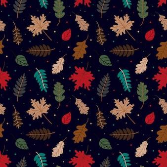 Patroon van verschillende herfstbladeren