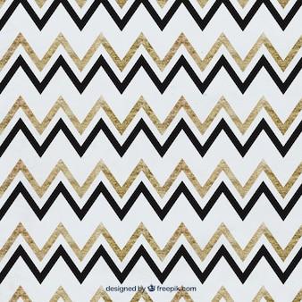 Patroon zigzag aquarel