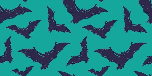 Patroonbehang met vleermuizen voor halloweenvakantie