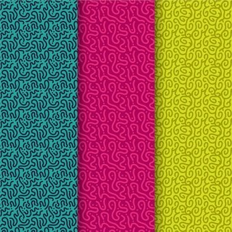 Patrooncollectie met afgeronde lijnen